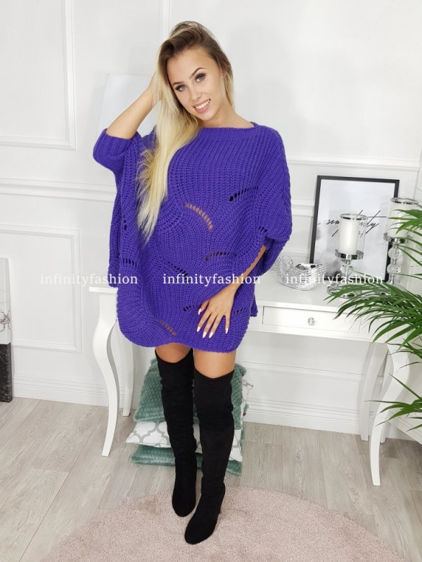 SWETER KABO FIOLETOWY