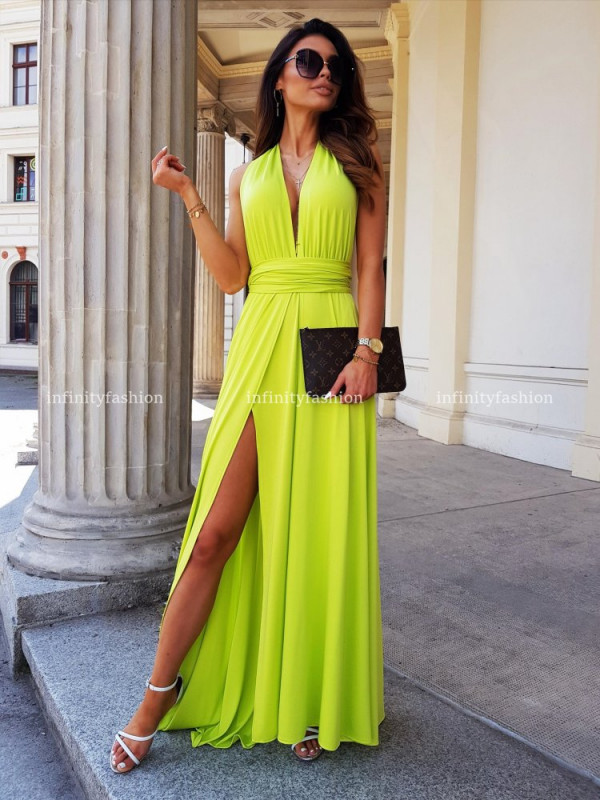 SUKIENKA MAXI MULTI WAYS LIME