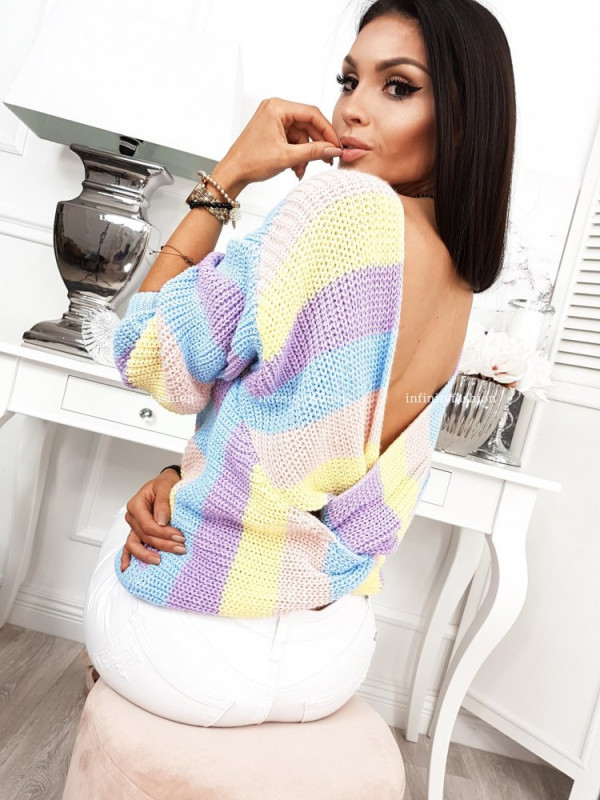 SWETER BUTTERFLY II STRIPES VIOLET
